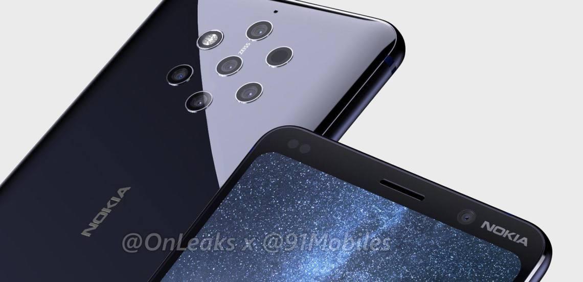 Nokia 9 PureView จะมาพร้อมกล้องหลัง 5 ตัว