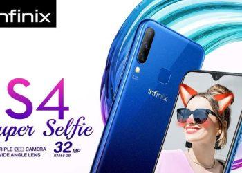 วางจำหน่ายแล้ว! Infinix S4 สมาร์ทโฟนระดับกลางใหม่ล่าสุด กับจอ HD+ แรม 6GB, กล้อง Triple-Camera, แบต 4000 mAh ในราคาสุดคุ้ม 5,990 บาท