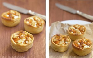 pumpkin goat cheese tarts