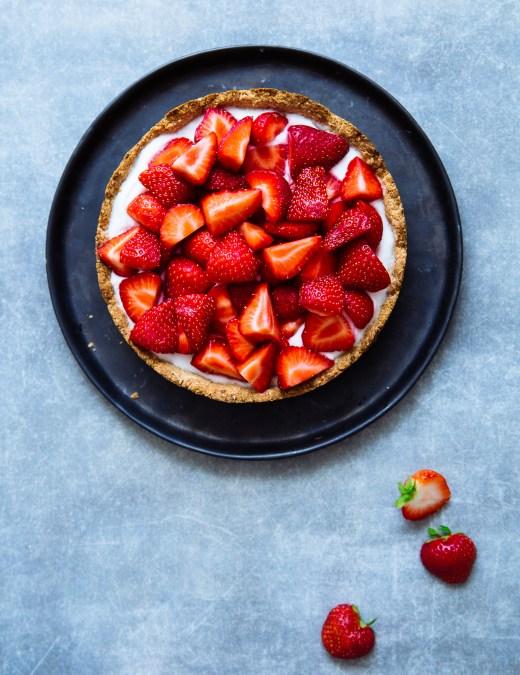 strawberry_tart_coconut_cream_aardbeientaart_kokosroom
