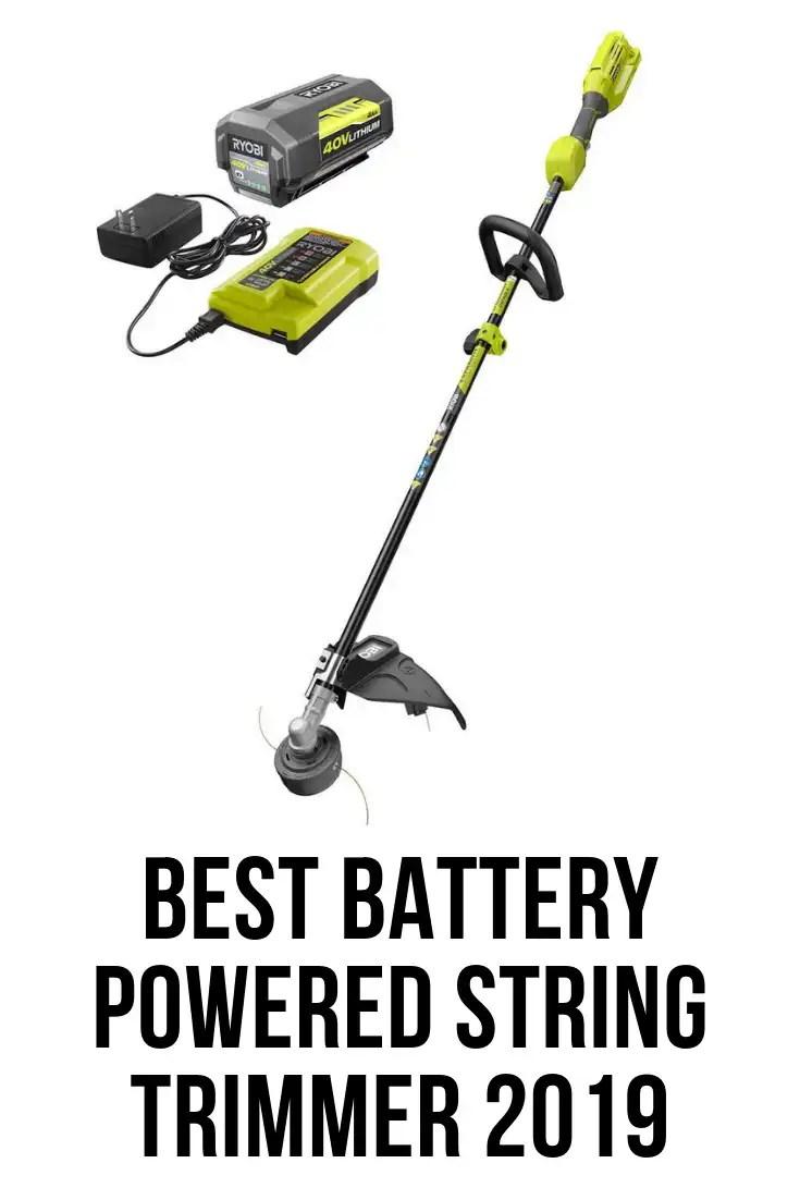 best battery powered string trimmer