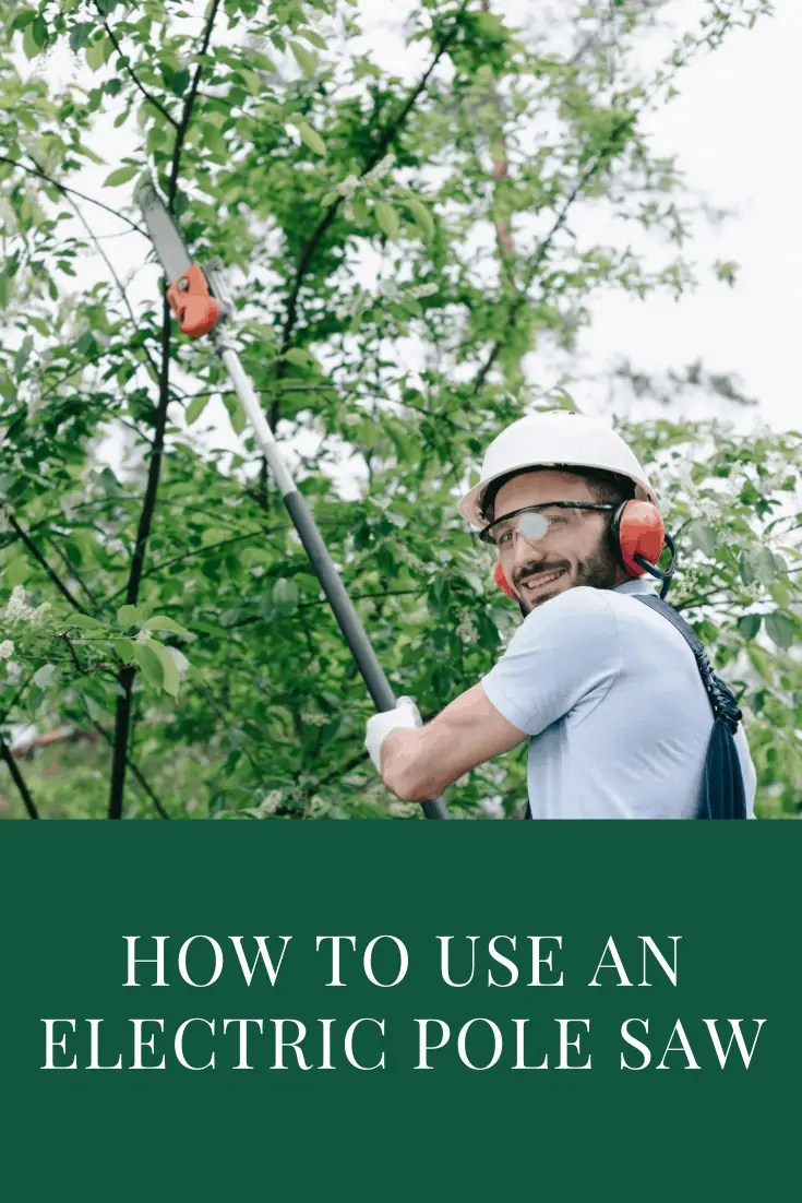 find out how to use an electric pole saw