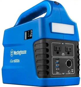 blue westinghouse igen600s portable power station