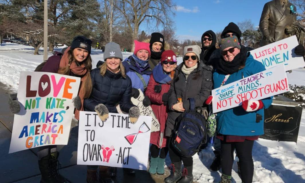 Students participate in Women's March