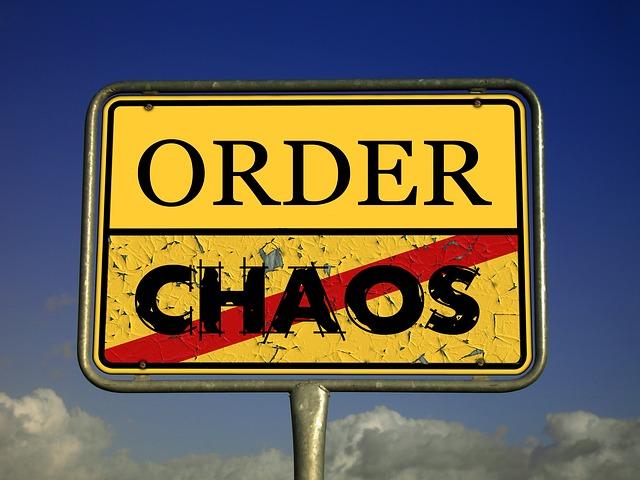 Sign of Order, no Chaos