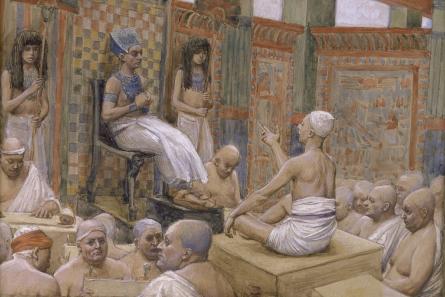 Joseph interprets Pharoah's Dream