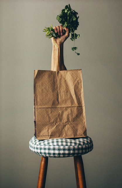 How can I use grocery bags for a food drive?