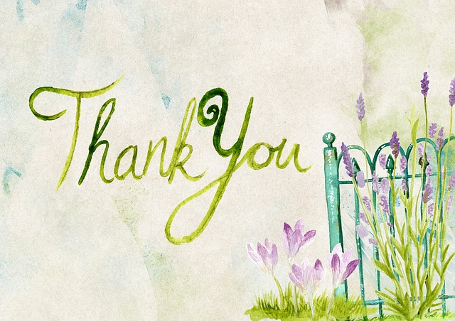 How should I use thank you notes in my  direct mail Fundraising?