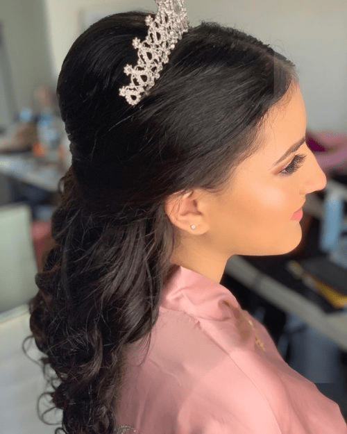 Half Updo with Crown