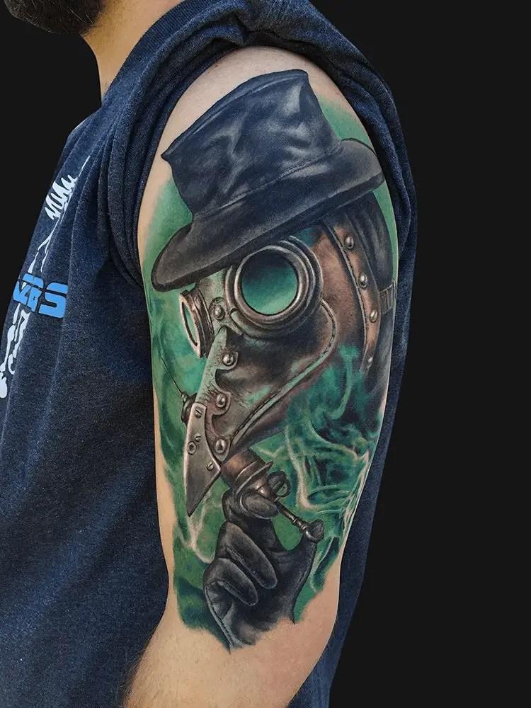 Plague Doctor Art Tattoo