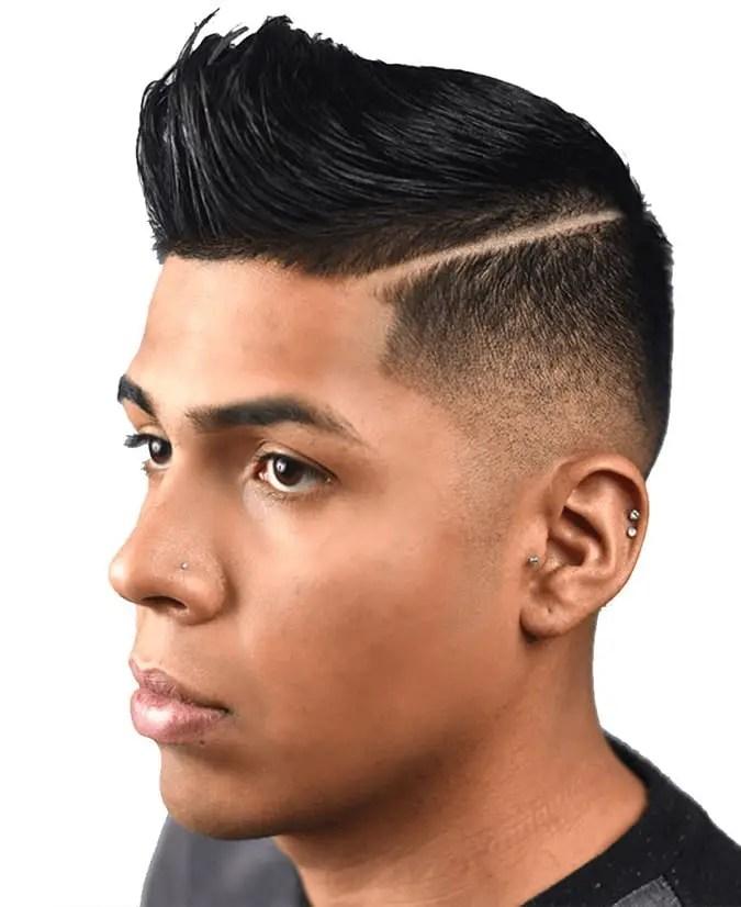 Retro hair + Drop Fade