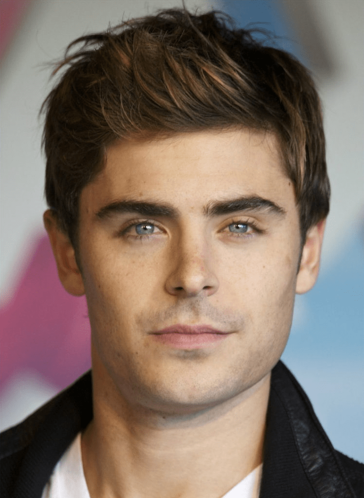 Men's round face hairstyle