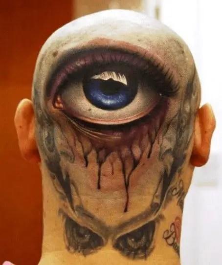 3D eye tattoo