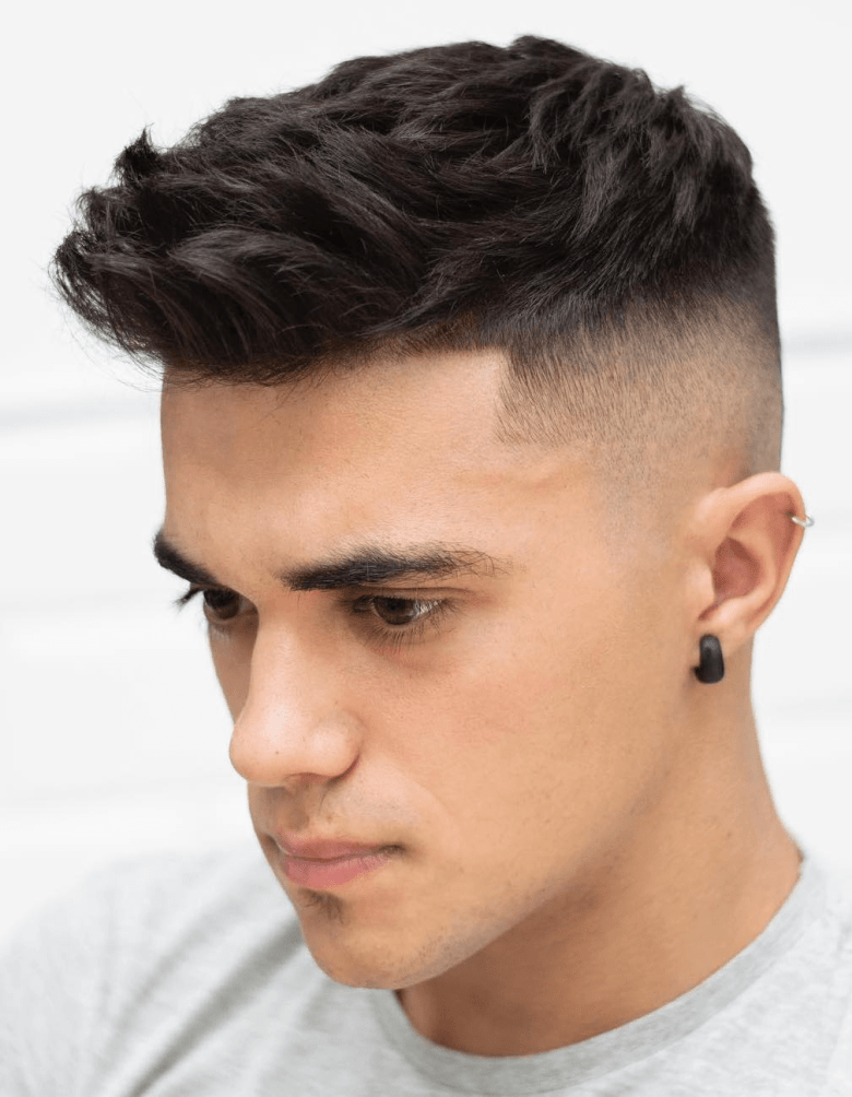 Textured hair with Taper Fade