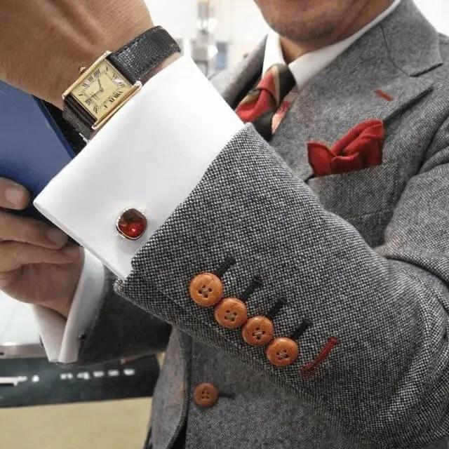Cufflinks With a Tie