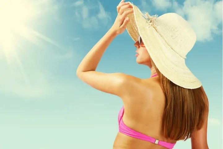 Women wearing hat
