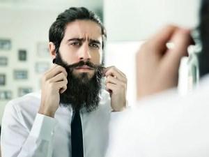 Man Styling Beard