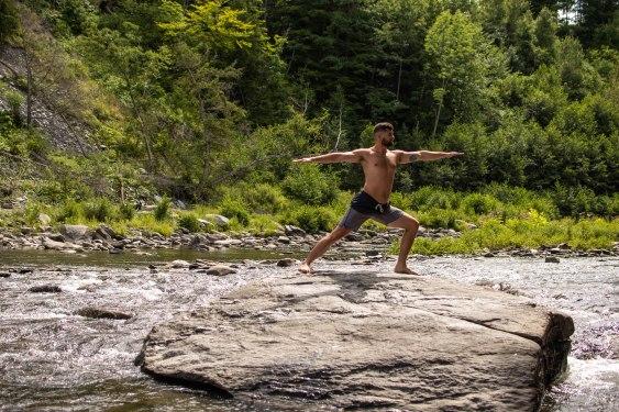 Yoga poses to transform your athleticism. [warrior pose]