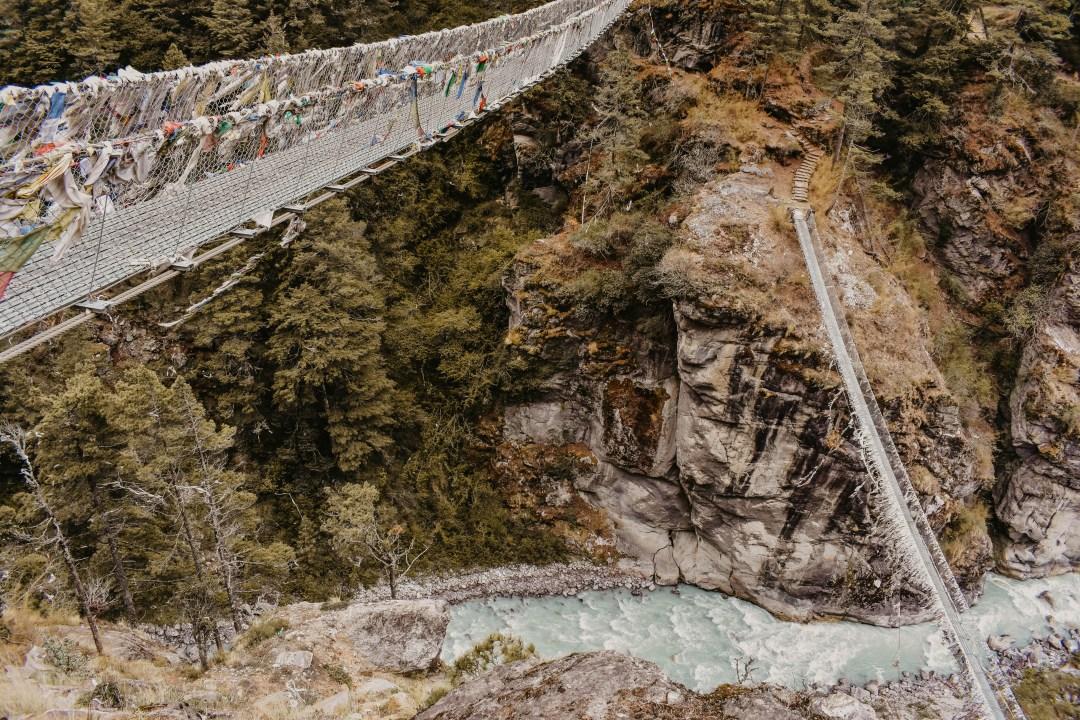 High suspension bridges in Sagarmatha National Park