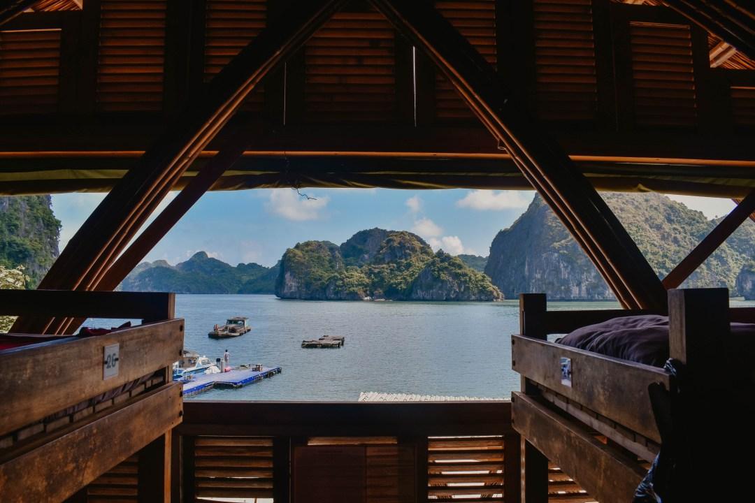 Bungalow overlooking Halong Bay, Vietnam