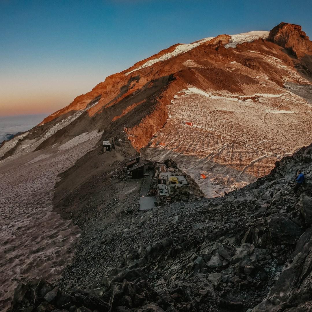 Camp Muir on Mt. Rainier