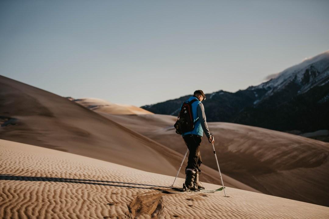skiing in the desert in Utah