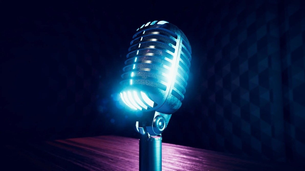 Generic Stylized Vintage Microphone