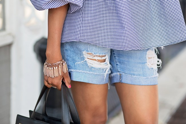boyfriend shorts, ripped boyfriend shorts, dallas fashion blogger