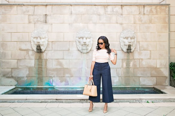 what to wear to the office, how to wear culottes, the perfect culottes, ann taylor wide leg pants