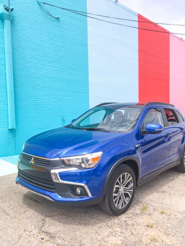 driveshop, mitsubishi outlander sport, sugar and cloth color wall houston, dallas blogger, road trip