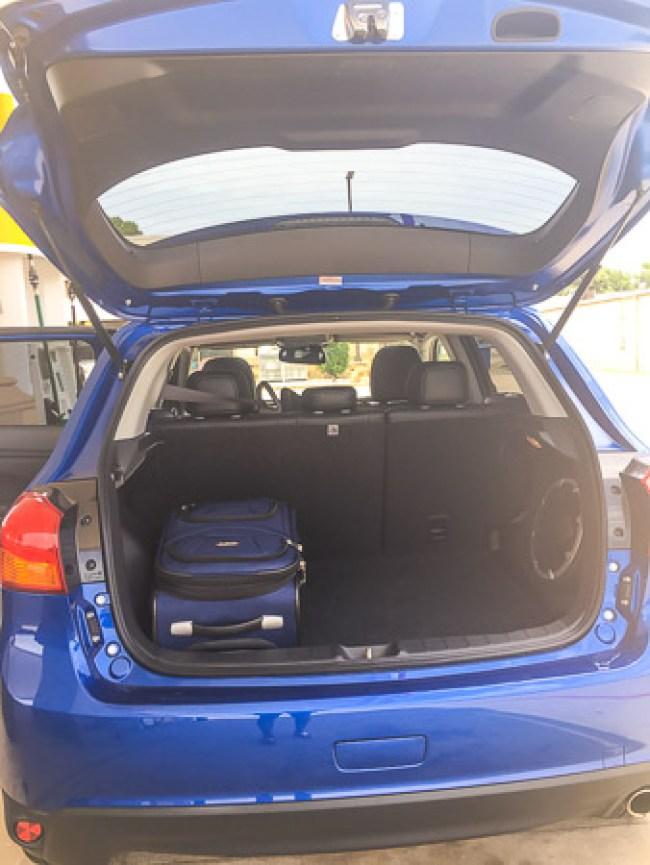 mitsubishi outlander sport, trunk space, road trip, driveshop