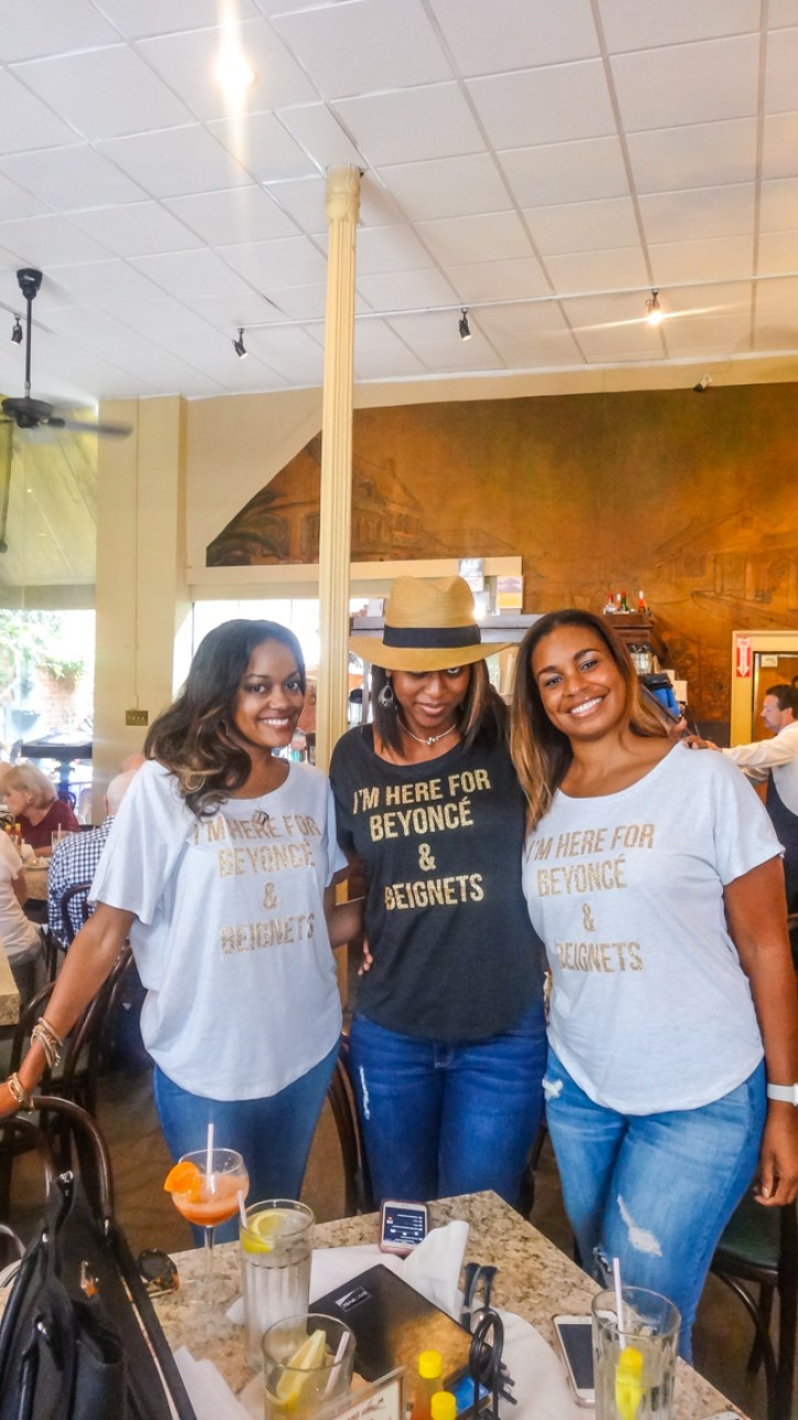 girls trip, dallas blogger, beyonce and beignets, beyonce t-shirts