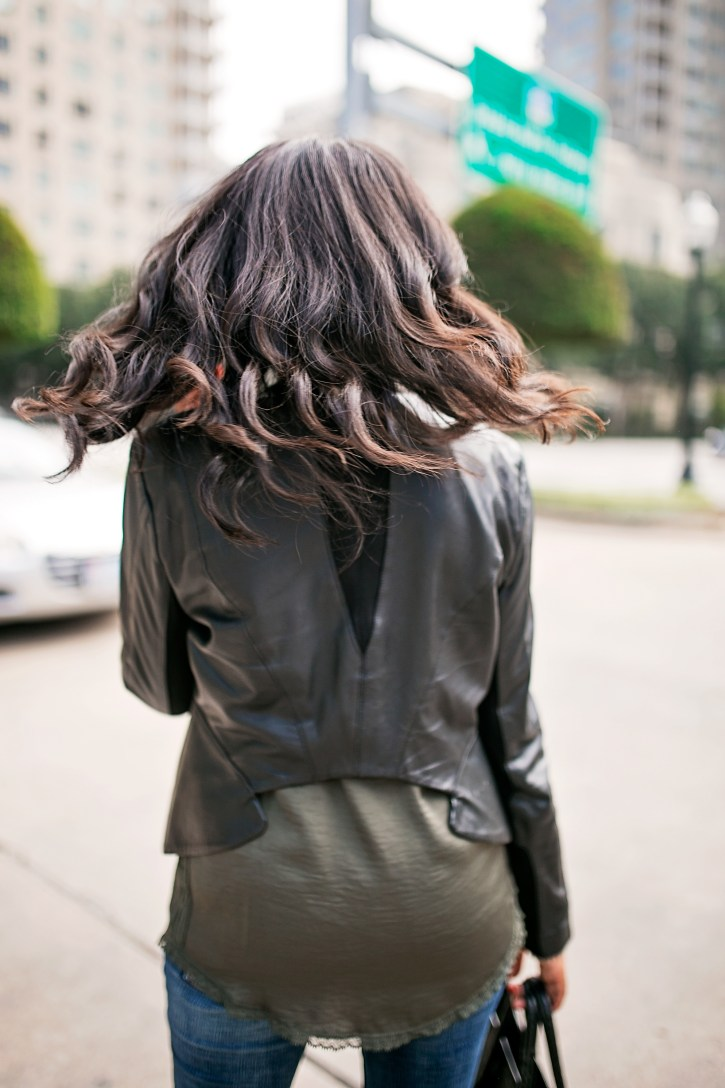 how to wear leather jacket, fall fashion, bcbg leather jacket, ripped jeans, how to wear leather jacket, fashion blogger, dallas blogger, LAMB platform sandals