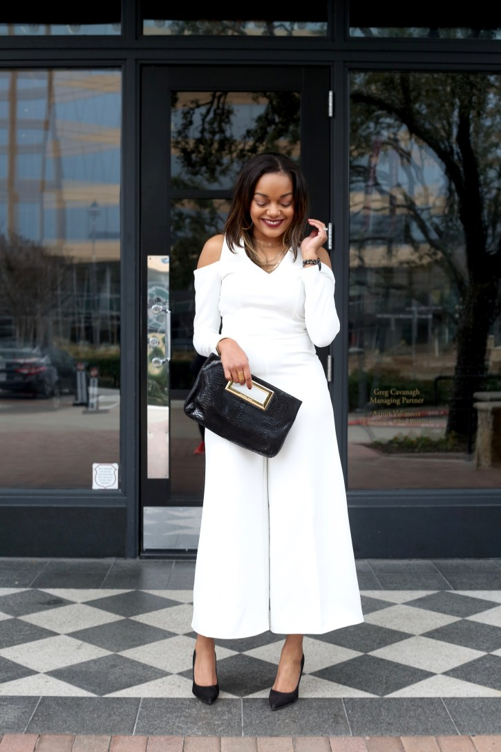 asos white jumpsuit, valentine's day outfit, valentine's day look, affordable jumpsuit, valentine's day outfit under $40, dallas blogger, fashion blogger