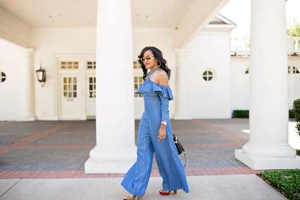 jumpsuit, asos jumpsuit, denim jumpsuit, spring jumpsuit, dallas blogger, black fashion blogger