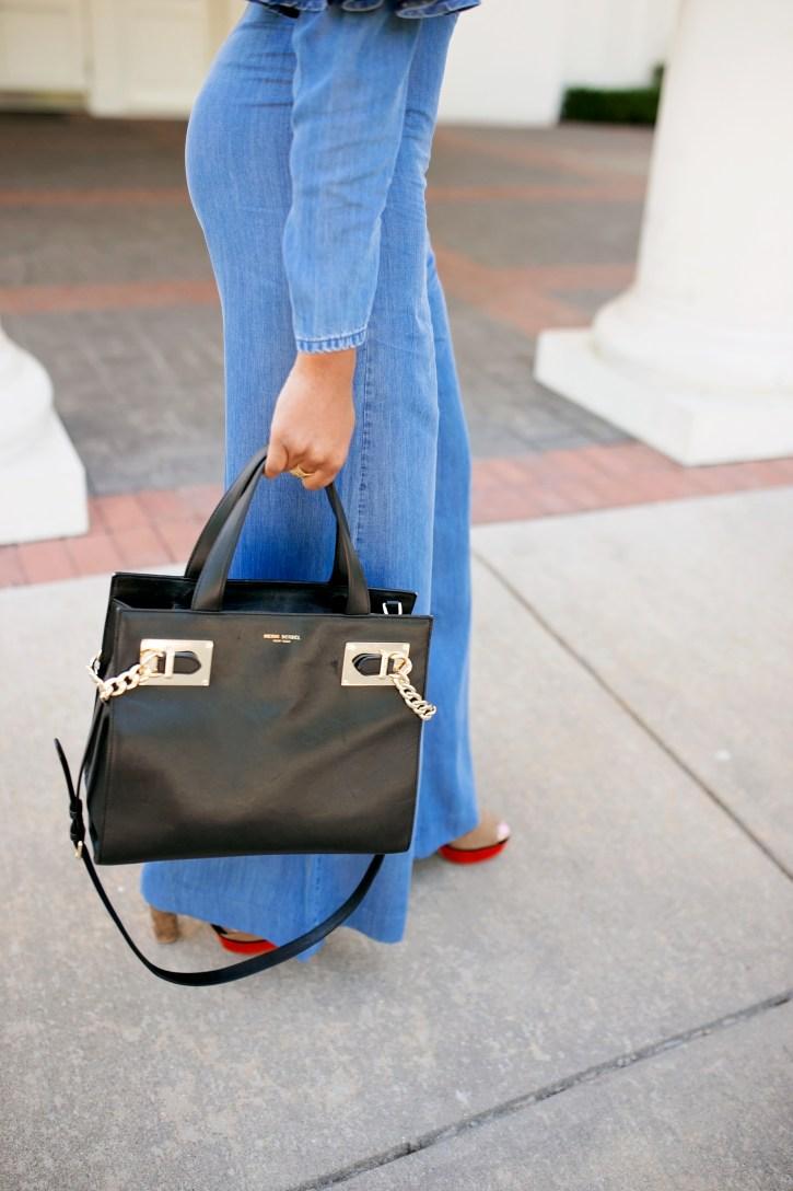 jumpsuit, asos jumpsuit, denim jumpsuit, spring jumpsuit, dallas blogger, black fashion blogger