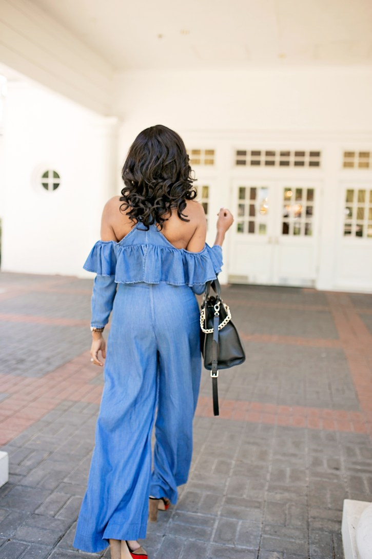 jumpsuits, asos jumpsuit, denim jumpsuit, spring jumpsuit, dallas blogger, black fashion blogger