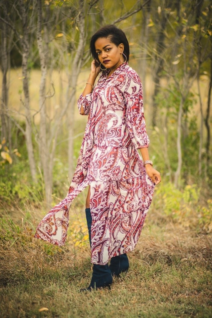 slaying in the country, #slayininthecountry, fall fashion, fall maxi dress, olivia palermo nordstrom, fall fashion inspiration, dallas bloggers, black women bloggers, arbor hills park plano texas, country photo shoot inspiration, fall fashion looks