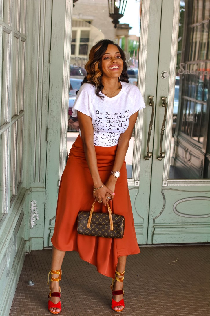 who what wear collection, satin midi skirt, how to wear satin midi skirt, fall 2017 trend, graphic tee and midi skirt inspo, satin midi skirt inspo, satin midi skirt outfit, target style, zara shoes, dallas blogger, black fashion blogger