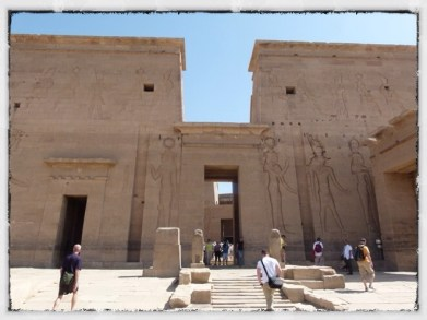 Philae Temple first courtyard