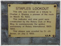 Staples Lookout Dedication