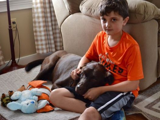 Trevor Lilley, 10, devoted his summer to taking care of his nana's dog. Hershey, 4, was dying of cancer.