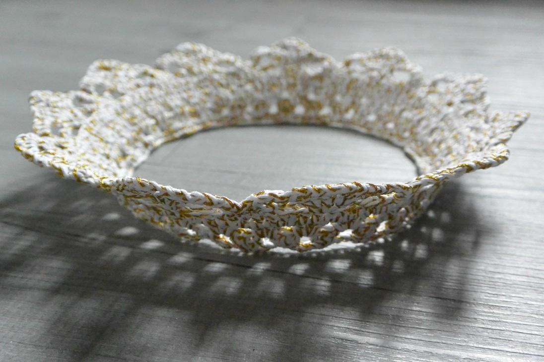 couronne crochet blanche