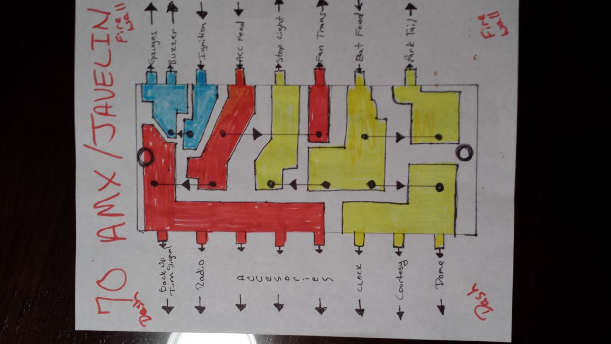 hight resolution of homemade 70 amx javelin fuse panel schematic the amc forum don t bust on my