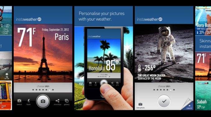 Instaweather app overlays weather info on Instagram shots