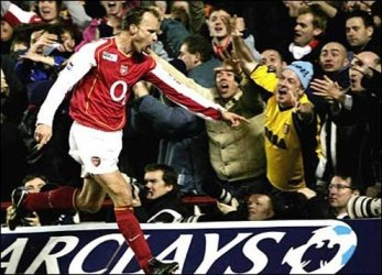 Dennis Bergkamp's hat trick against Leicester City is a memorable feat.