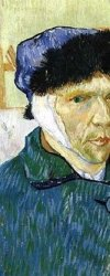 "Detail from Van Gogh's ""Self-Portrait with Damaged Ear"""