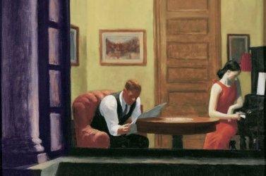 """Edward Hopper, """"Room in New York,"""" 1932."""