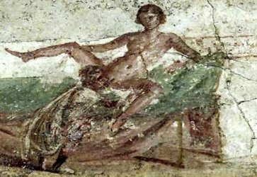 sex, ancient Rome, murals, painting, Priapus, phallus