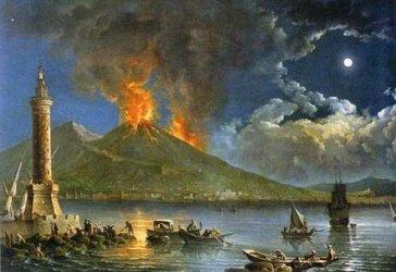 Vesuvius erupting, by Carlo Bonavia, 1757. National Motor Museum, Beaulieu, Hampshire.